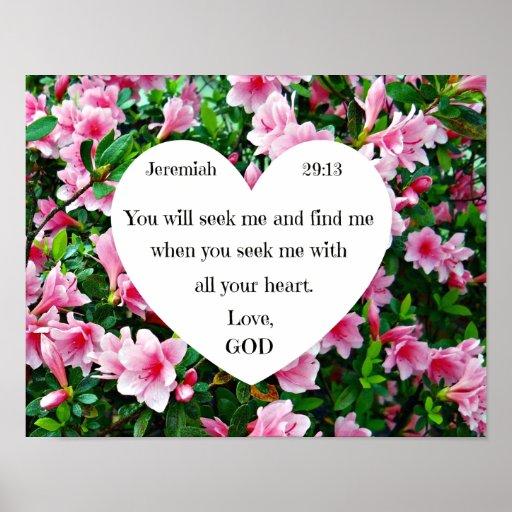 Jeremiah 29:13 poster