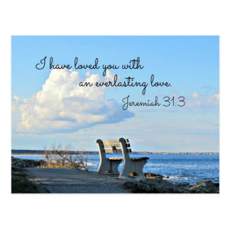 Jeremiah 31:3 I have loved you with an everlasting Postcard