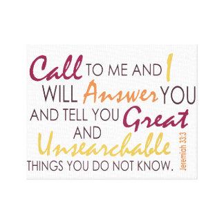 Jeremiah 33:3 canvas print