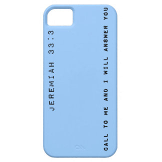 Jeremiah 33:3, Customizable Background Color Case For The iPhone 5