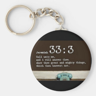 Jeremiah 33:3 key ring