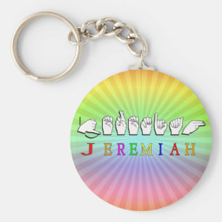 JEREMIAH KEY CHAIN NAME SIGN ASL FINGERSPELLED