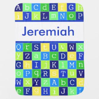 Jeremiah's Personalized Blanket Receiving Blanket