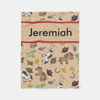 Jeremiah's Personalized Cowboy Blanket