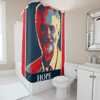 Jeremy Corbyn HOPE labour supporter shower curtain