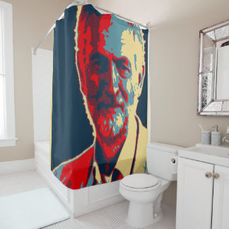 Jeremy Corbyn labour supporter shower curtain