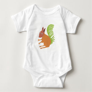 Jeremy the Squirrel Baby Bodysuit