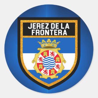 Jerez de la Frontera Flag Round Sticker