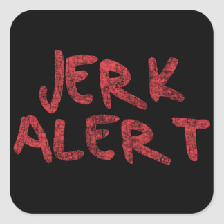 Jerk alert square sticker