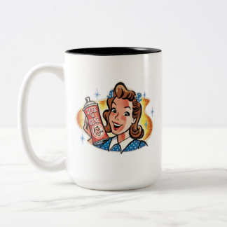 """Jerk-B-Gone"" funny retro Two-Tone Coffee Mug"