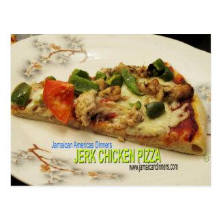 Jerk Chicken Pizza Postcard