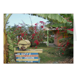 Jerk Chicken Stand in Negril, Jamaica 2011 Card