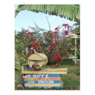 Jerk Chicken Stand in Negril, Jamaica 2011 Postcard