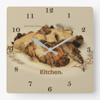 Jerk Chicken Tenders Stick or Fingers Square Wall Clock