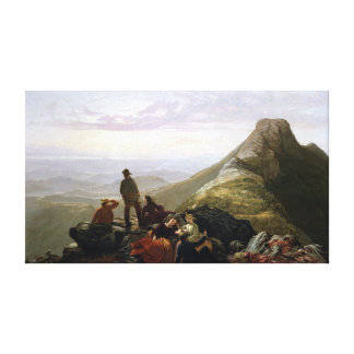 Jerome Thompson Belated Party Mansfield Mountain Canvas Print
