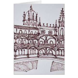 Jeronimos Monastery Cloister   Lisbon, Portugal Card