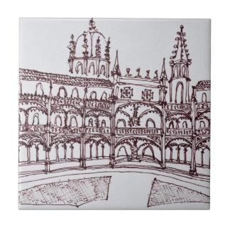 Jeronimos Monastery Cloister | Lisbon, Portugal Tile