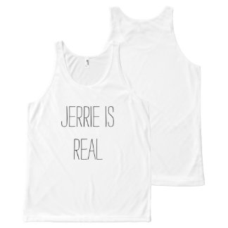 Jerrie is Real tanktop All-Over Print Tank Top