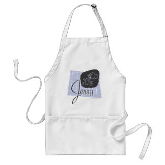 Jerry Black and Blue Script Standard Apron