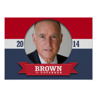 JERRY BROWN CAMPAIGN PRINT