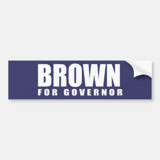 JERRY BROWN Election Gear Bumper Sticker