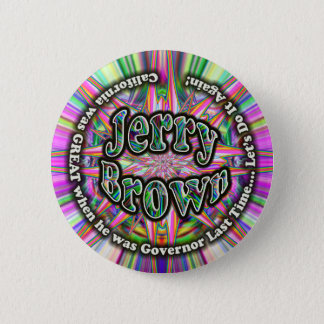 Jerry Brown Governor button