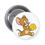 Jerry Likes His Cheese 6 Cm Round Badge