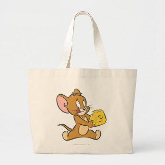 Jerry Likes His Cheese Large Tote Bag