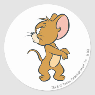 Jerry Looking Back Annoyed Round Sticker
