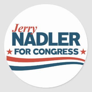 Jerry Nadler Classic Round Sticker