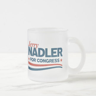 Jerry Nadler Frosted Glass Coffee Mug