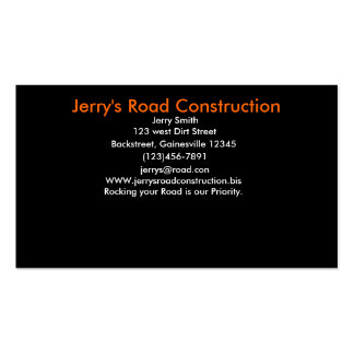 Jerry's Road Construction Pack Of Standard Business Cards