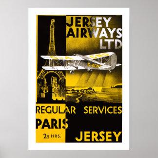 Jersey Airways Poster
