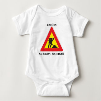 Jersey Baby Bodysuit Caution Explosive Material