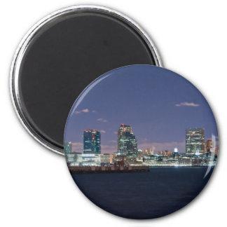 jersey city 6 cm round magnet