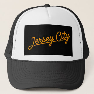 Jersey City in orange Trucker Hat