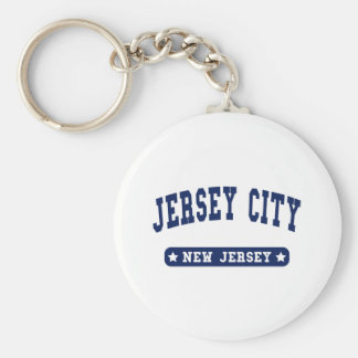 Jersey City New Jersey College Style tee shirts Key Ring