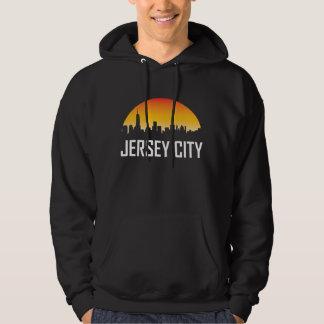 Jersey City New Jersey Sunset Skyline Hoodie