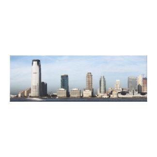 Jersey City Skyline Panoramic Canvas Print