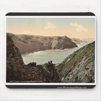 Jersey, coast from the Devil's Hole, Channel Islan Mouse Pad