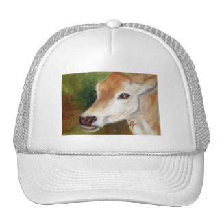 Jersey Cow aceo Hat