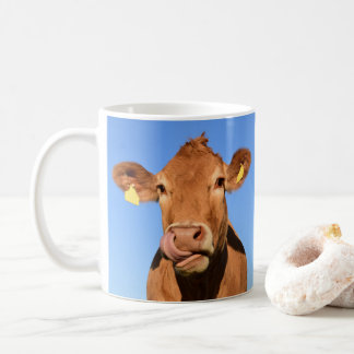 Jersey Cow Licking its Nose Coffee Mug
