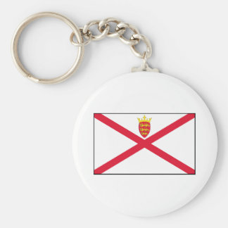 Jersey Flag Basic Round Button Key Ring
