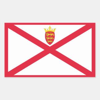 Jersey Flag Rectangular Sticker
