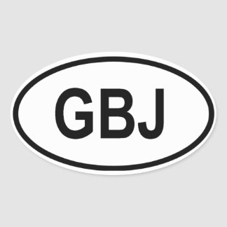 "Jersey ""GBJ"" Oval Sticker"