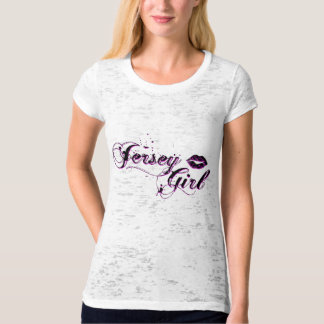 Jersey Girl Burnout Fitted T-shirt