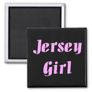 JERSEY GIRL Embroidered Hat Square Magnet