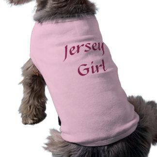 Jersey Girl Ribbed Dog T-Shirt