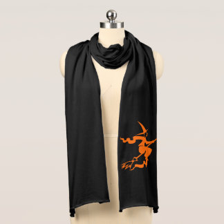 Jersey Knit Scarf-Halloween Witch Scarf