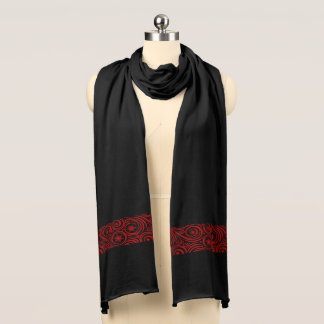 Jersey Knit Scarf-Holiday Snowflakes Scarf